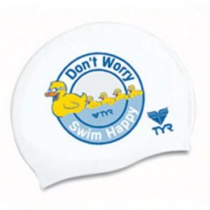 Don't worry swim happy szilikon úszósapka – LCSDUCK, (100) Fehér