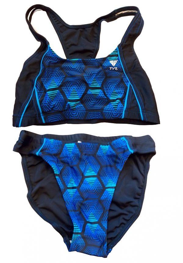 Labyrinth bikini 390 - Fekete/Kék