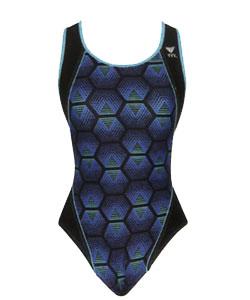 Labyrinth maxback női úszódressz - Kék/Türkiz