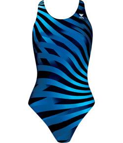Optic wave maxback női úszódressz - Kék