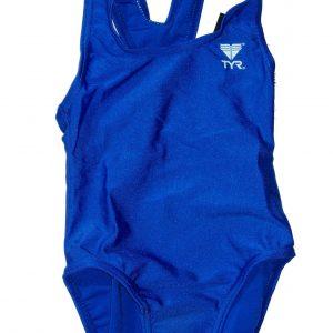 Solid T-Black Pre-Schooler gyermek úszódressz